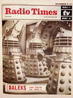Radio Times Dalek cover from the 1960s