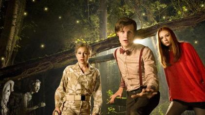 Alex Kingston, Matt Smith and Karen Gillan in Doctor Who